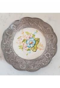 Wand-/Zinnteller mit Keramik II (Aktion solange Vorrat)