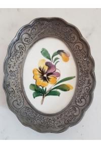 Wand-/Zinnteller mit Keramik oval II (Aktion solange Vorrat)